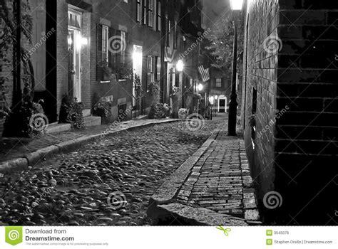 boston street stock photo image  cobblestone