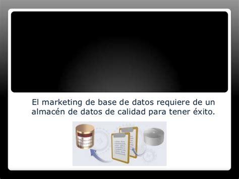 marketing de base de datos y respuesta directa