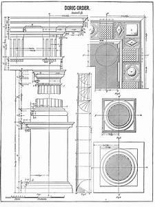 Architecture Printable Doric Order Diagram