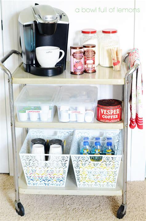 Organized Drink Station    A Bowl Full of Lemons