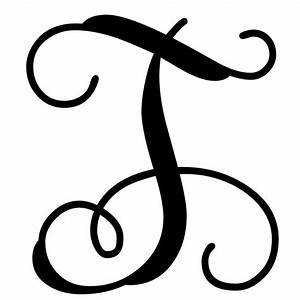 vine monogram letter t initial initials monograms and With monogram letter art