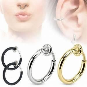 Prix D Un Piercing Au Nez : un piercing anneaux argent nez sans per age faux piercing nez fake nose achat vente faux ~ Medecine-chirurgie-esthetiques.com Avis de Voitures