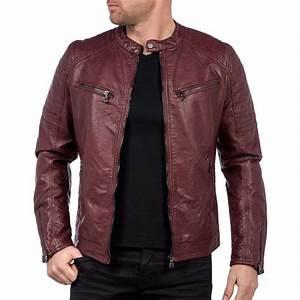 Veste En Cuir Rouge Homme : veste homme cuir rouge ~ Melissatoandfro.com Idées de Décoration