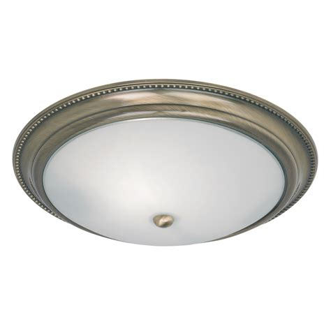 endon 91121 antique brass flush ceiling fitting