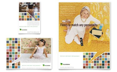 carpet hardwood flooring flyer ad template word