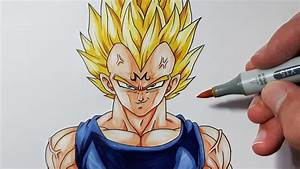 How To Draw MAJIN Vegeta - Step By Step Tutorial! - YouTube