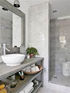 Deco Salle De Bain Gris : relooker une salle de bain grise et blanc ~ Farleysfitness.com Idées de Décoration