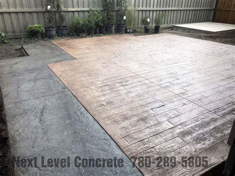 wood plank stamped concrete  level concrete