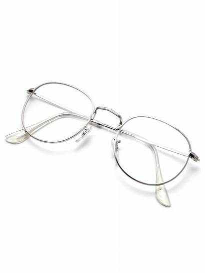 Silver Glasses Clear Frame Lens Shein Romwe
