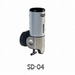 Abs Plastic Silver Avro Manual Soap Dispenser Sd