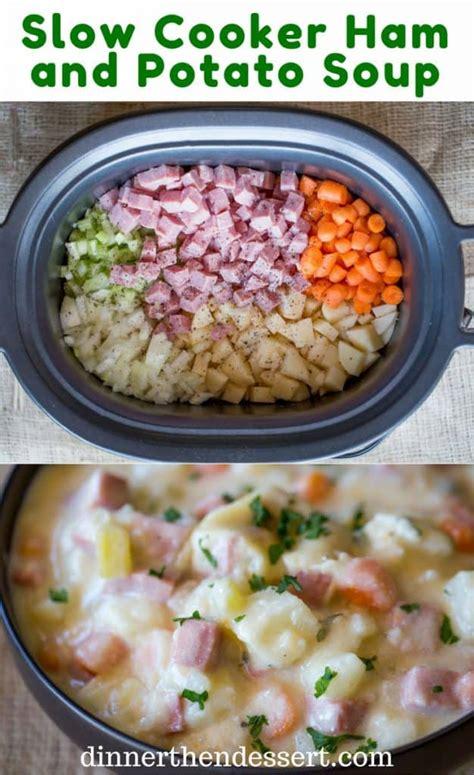 ham soup potato cooker slow easy recipes crockpot creamy recipe chunks crock potatoes cream vegetables dishmaps delicious pot dinner sour