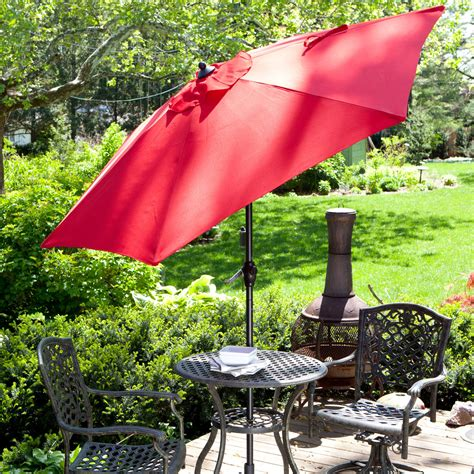 flexx market umbrella  ft wind protected patio umbrella  hayneedle