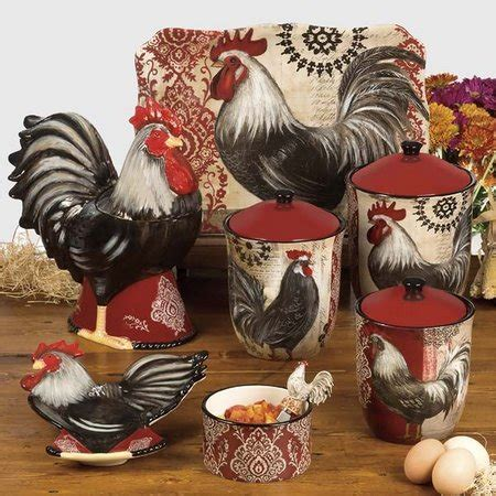 rooster canisters kitchen products rooster kitchen decorations www freshinterior me