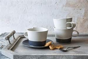 Große Tasse Kaffee : gro e kaffeetasse moderne keramik tasse mit einer untertasse schwarz wei kaffeebecher ~ A.2002-acura-tl-radio.info Haus und Dekorationen