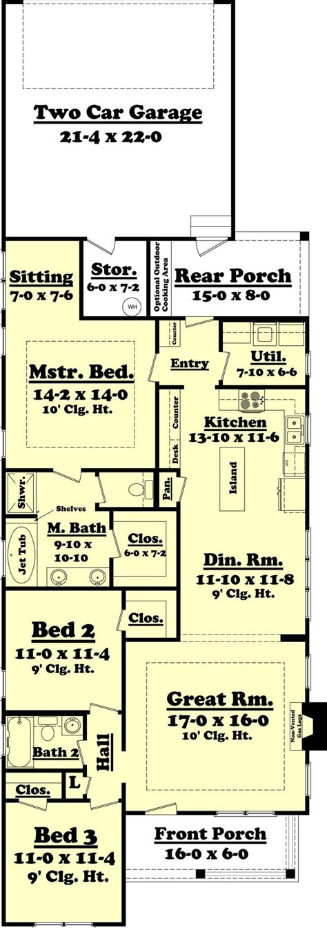 narrow lot house plans with rear garage best 25 narrow lot house plans ideas on