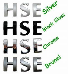 silver letters hse logo for range rover l322 diesel v8 ebay With range rover sport lettering