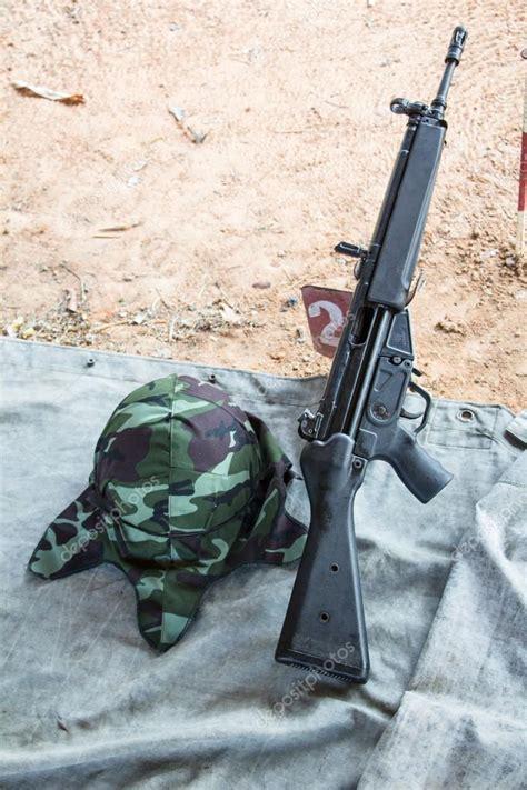 hk rifle stock photo  jukree