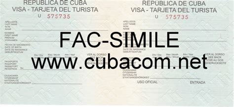 Visto Ingresso Cuba by Assicurazione E Visto Di Ingresso Per Cuba