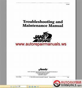 Cummins - Jacobs Brake Troubleshooting Guide