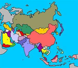 Juegos de Geografía Juego de Ubica correctamente los países asiáticos en el mapa Cerebriti