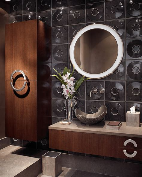 luxurious powder rooms homes   rich