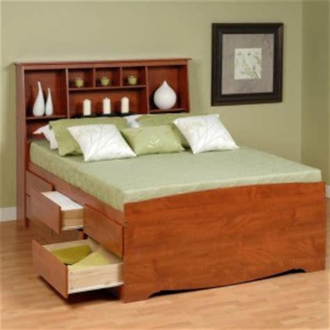 bookcase bed frame minimalist bedroom with platform storage bed bookcase