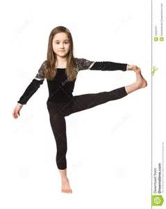 Young Girl Doing Gymnastic