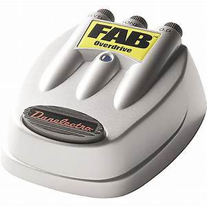 Danelectro Fab Overdrive Pedal  New In Box W  Manual