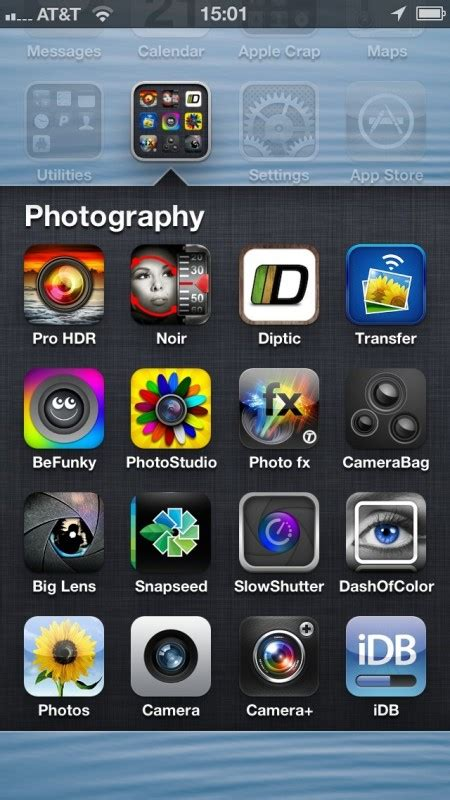 iphone app folder con l iphone 5 puoi inserire fino a 16 app in ogni