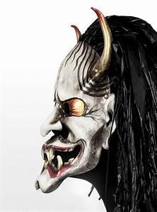 Japanese Hannya Leather Half Mask - maskworld com