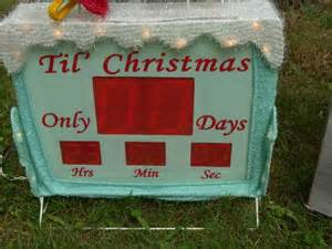 countdown to christmas snowman lighted digital clock yard decor ebay