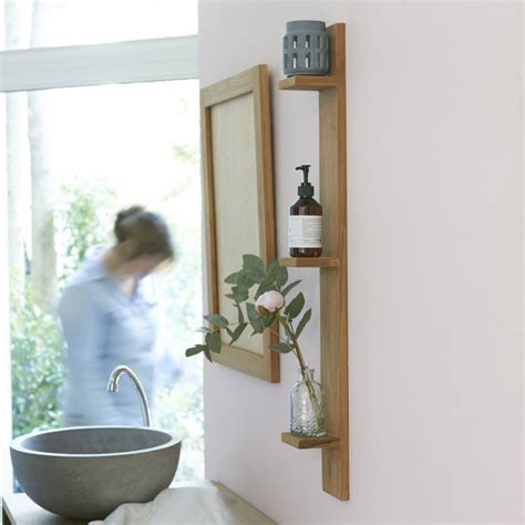 scaffali da bagno scaffale a parete per bagno in teak bahya prezzo tikamoon