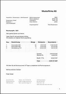 Rechnung Bei Versicherung Einreichen Vorlage : rechnungsvorlage schweiz im word excel format kostenlos ~ Themetempest.com Abrechnung