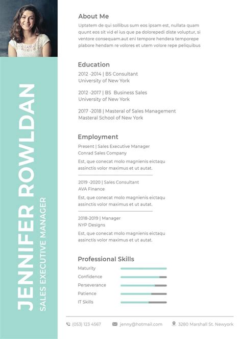 Free Cv Sles In Word Format by Free Templates Creativebooster