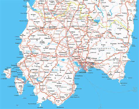 cagliari map  cagliari satellite image