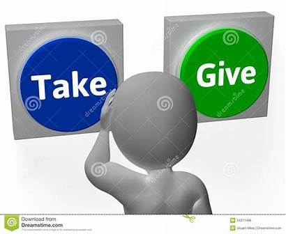 Compromise Give Take Negotiation Buttons Giving