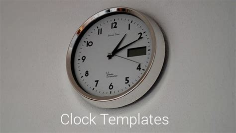 printable clock templates    premium