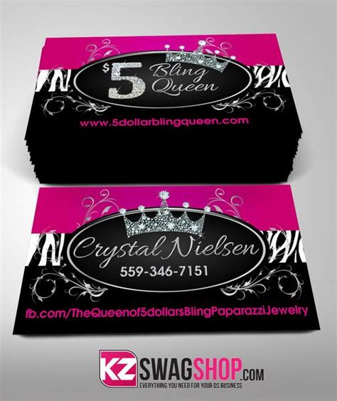 bling jewelry business cards style  kz swag shop