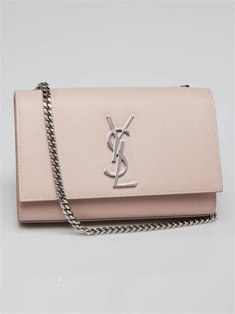 yves saint laurent pink pebbled leather small kate bag yoogis closet
