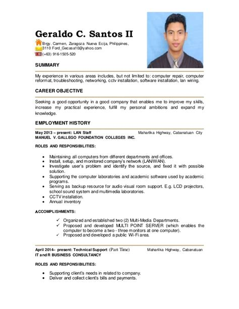 Med Tech Resume Philippines by Resume