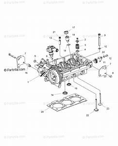 Polaris Side By Side 2016 Oem Parts Diagram For Engine  Cylinder Head  U0026 Precombustion Chamber