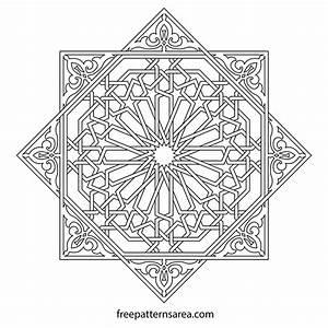 Geometric, Islamic, Ornament, Art, Vector, Patterns