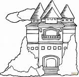 Mansion Coloring Pages Houses Printable Template Clipart 58kb 1200 Categories sketch template