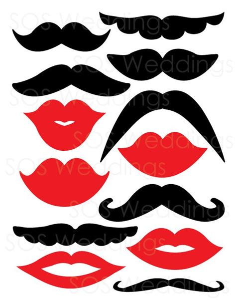 photo booth props template free mustaches and photobooth props wedding photo by sosweddings