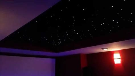 fiber optic panel star ceiling home theater youtube