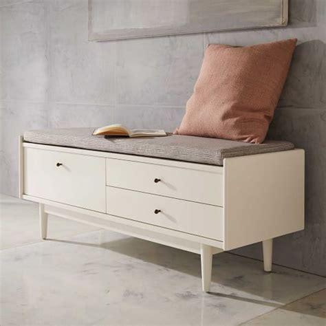 Storage Bench Modern by West Elm Mid Century Entryway Bench Furnish Modern