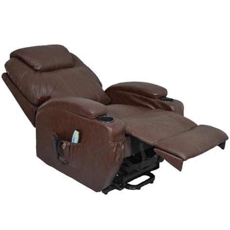 fauteuil relaxation releveur massant chauffant cuir kalinka 1 moteur