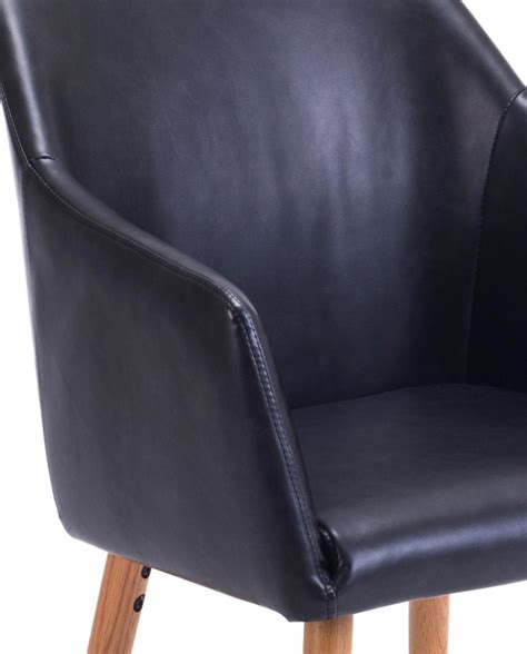 chaise visiteur chaise de visiteur avec accoudoirs style scandinave dot