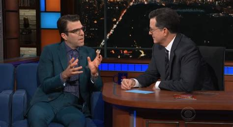 zachary quinto colbert zachary quinto and colbert have a long talk about how much