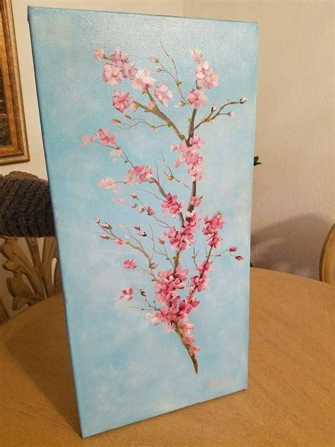 Flor de cerezo (óleo sobre lienzo) en 2020 Óleo sobre
